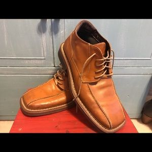Bata Brown Leather Boots Italy Mens Size 42